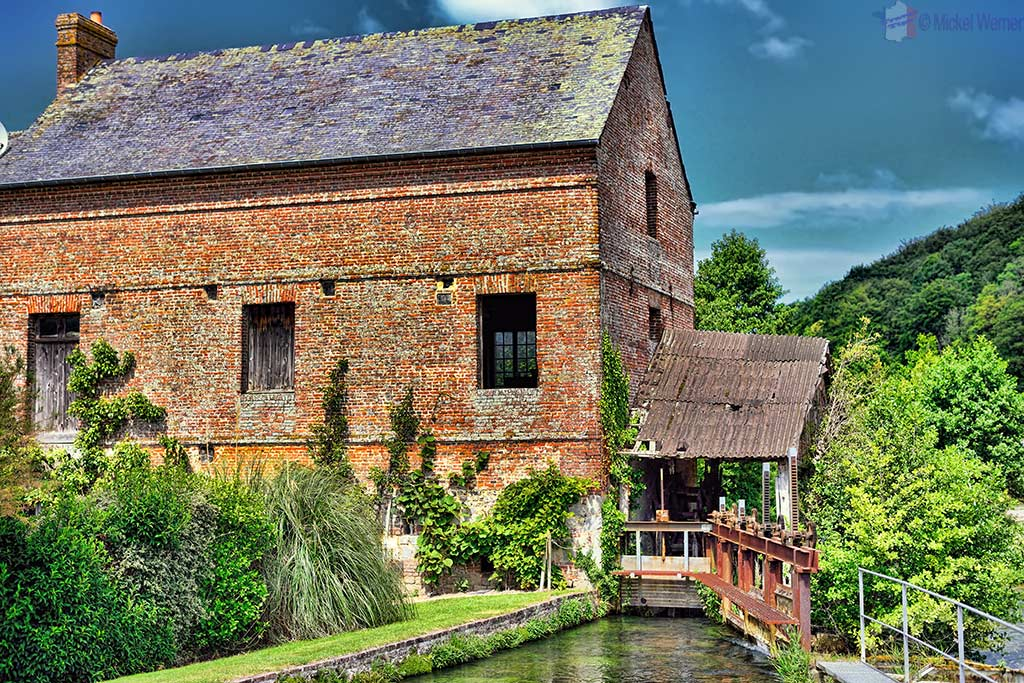 Watermill alongside the Durdent Valley in Normandy'