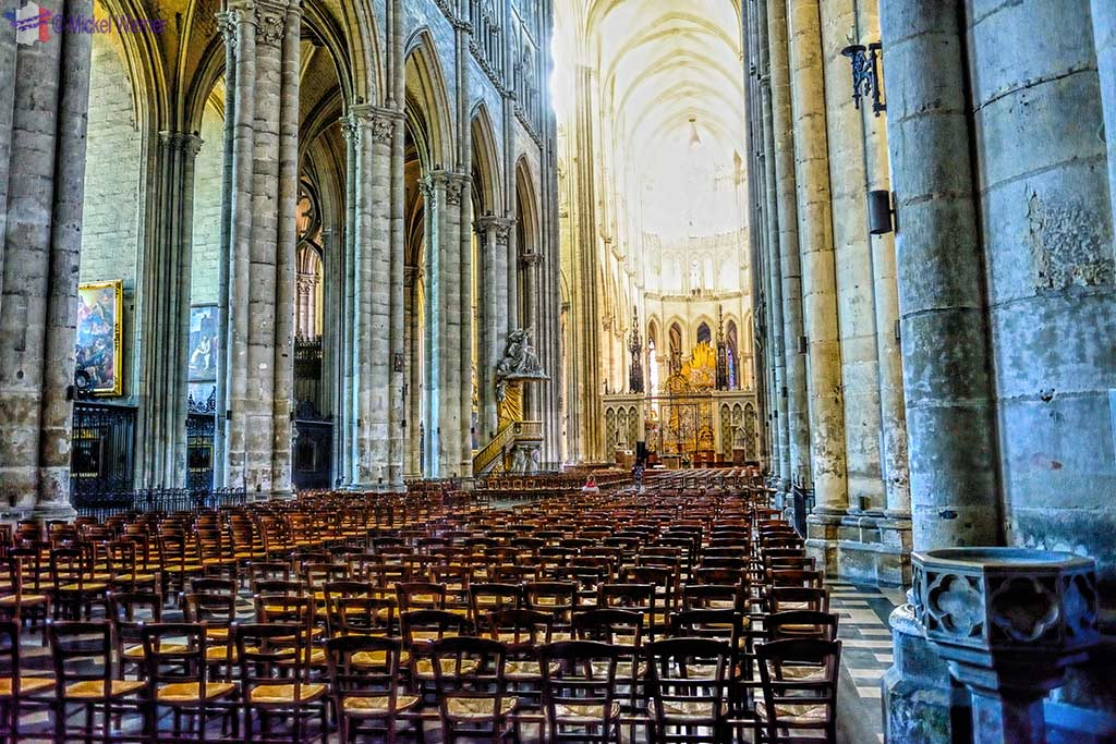 Inside the Amiens cathedral