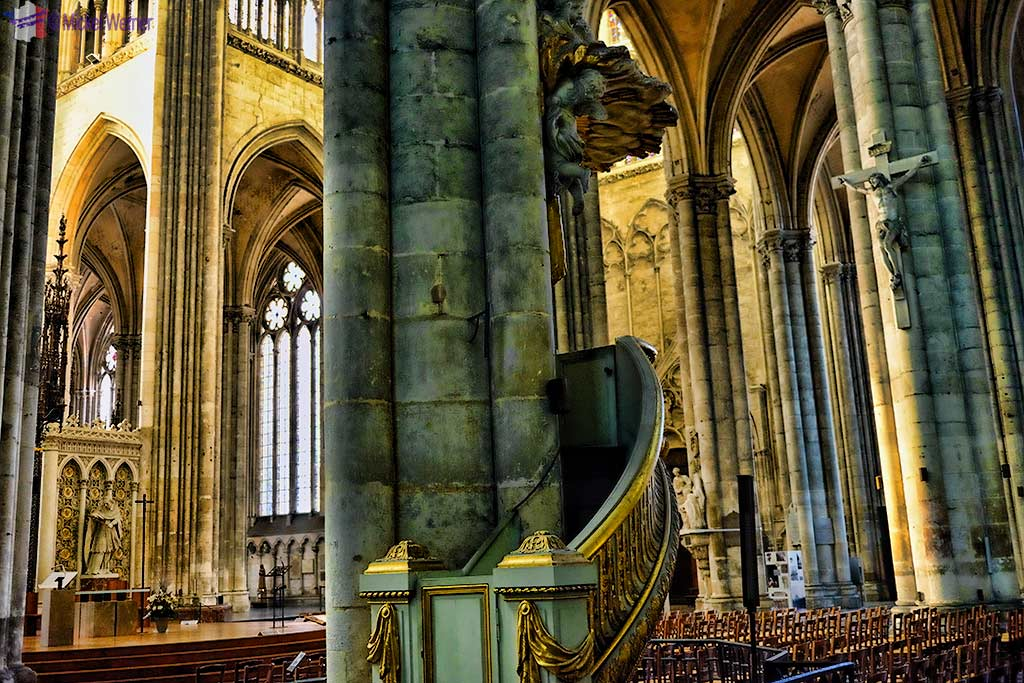 The pulpit of the cathedral of Amiens