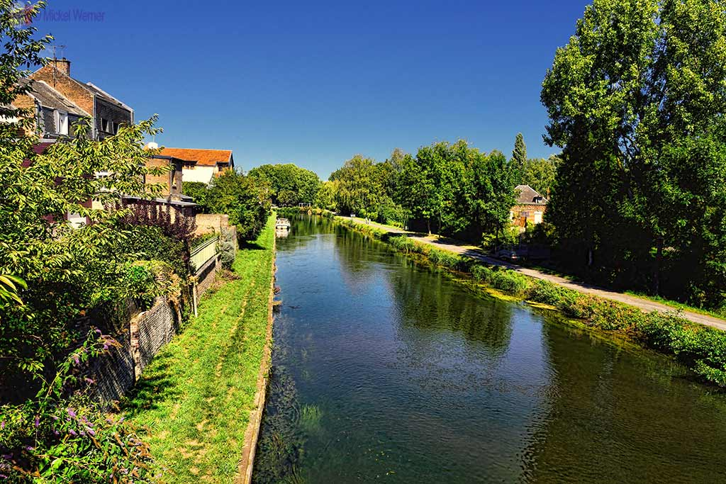 Canal near the Hortillonnages (floating gardens) in Amiens