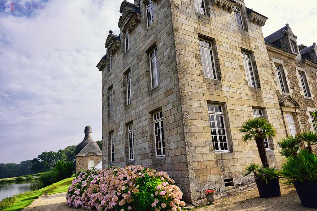 Chateau de Kerduel and chapel in Pleumeur-Bodou, Brittany