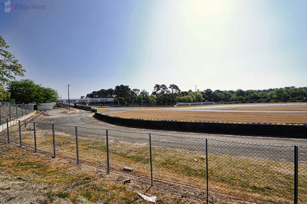 The Bugatti circuit in Le Mans
