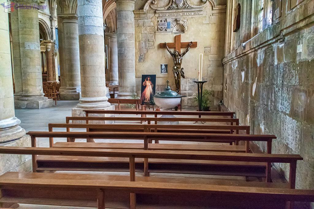 Chapel inside Notre-Dame du Havre Cathedral of Le Havre, Normandy