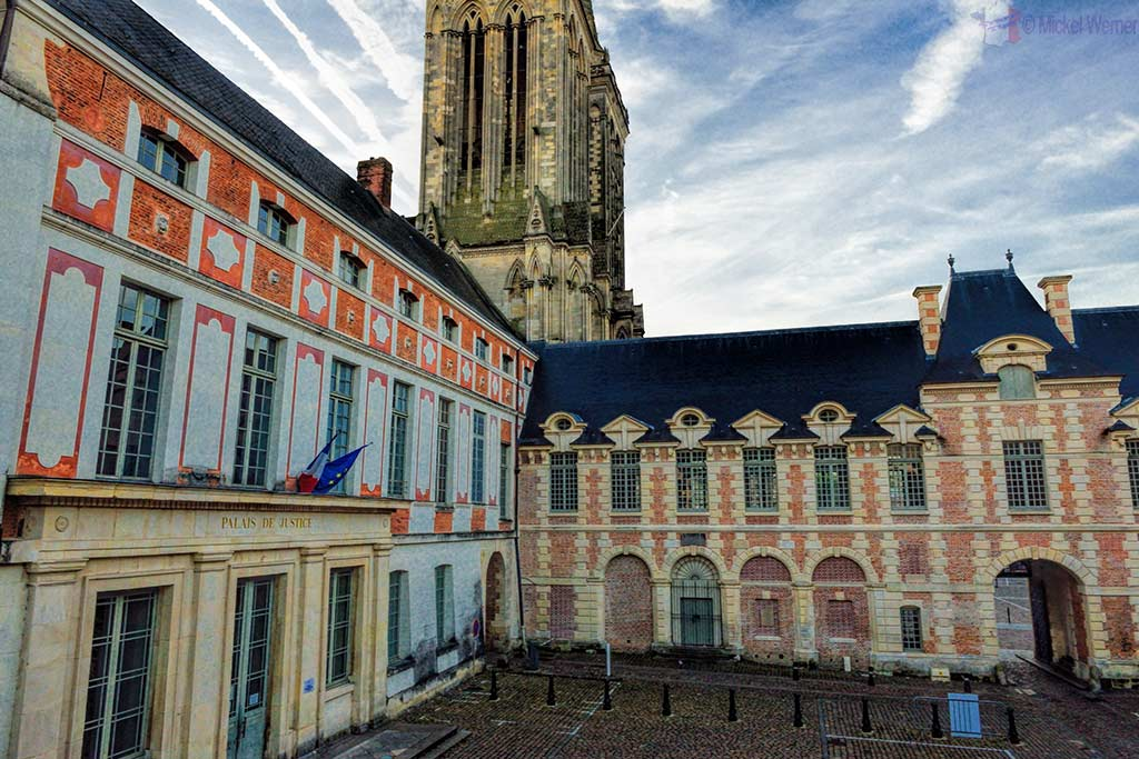 Cathedral and courthouse of Lisieux, Normandy