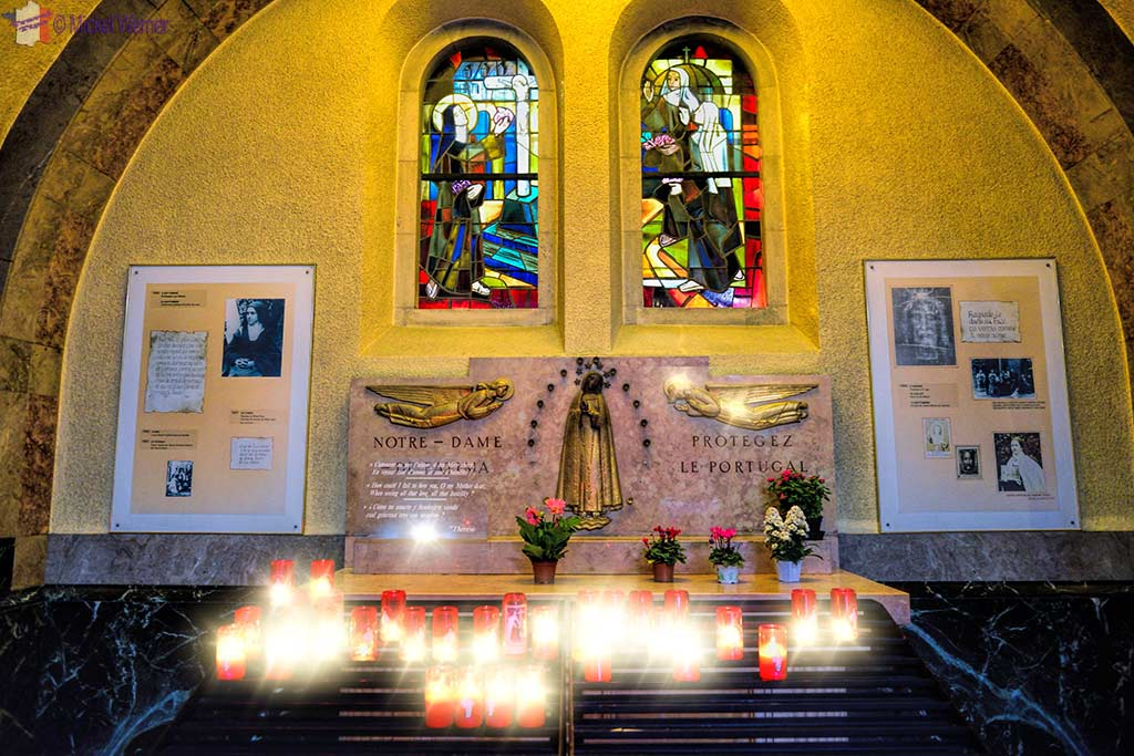 One of 18 altars to be found inside the Basilica of St. Therese in Lisieux, Normandy