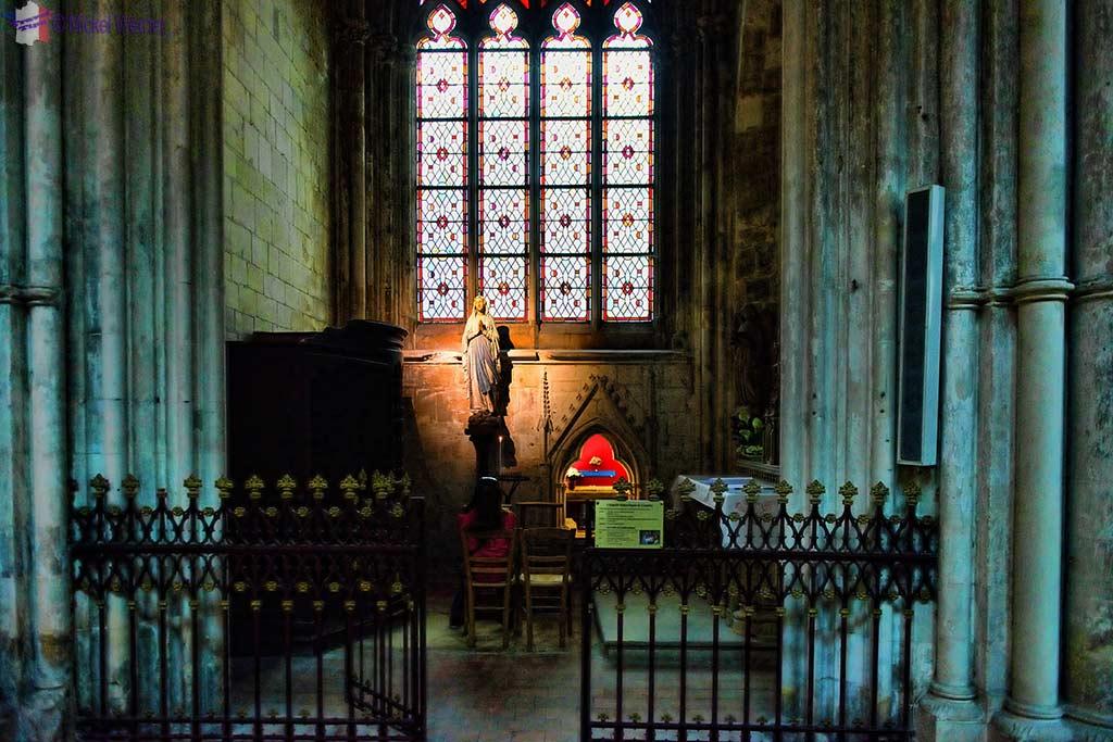 The Notre-Dame de Lourdes chapel inside the Saint-Pierre cathedral of Lisieux