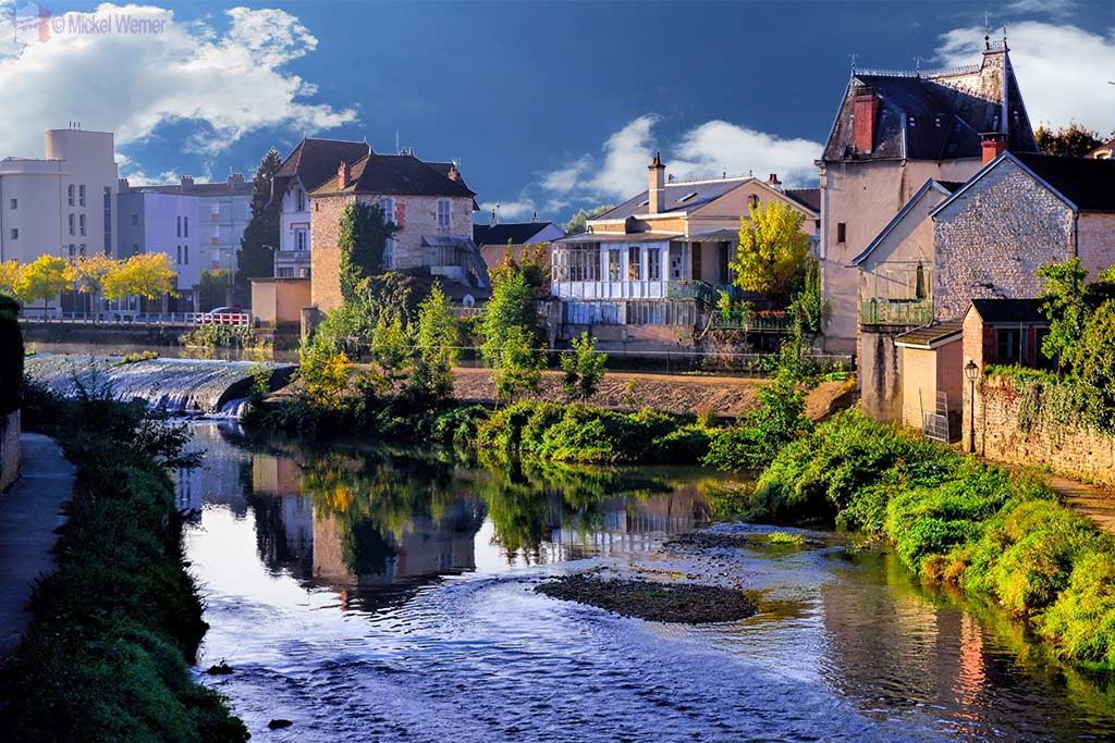 Brenne river in Montbard, Burgundy