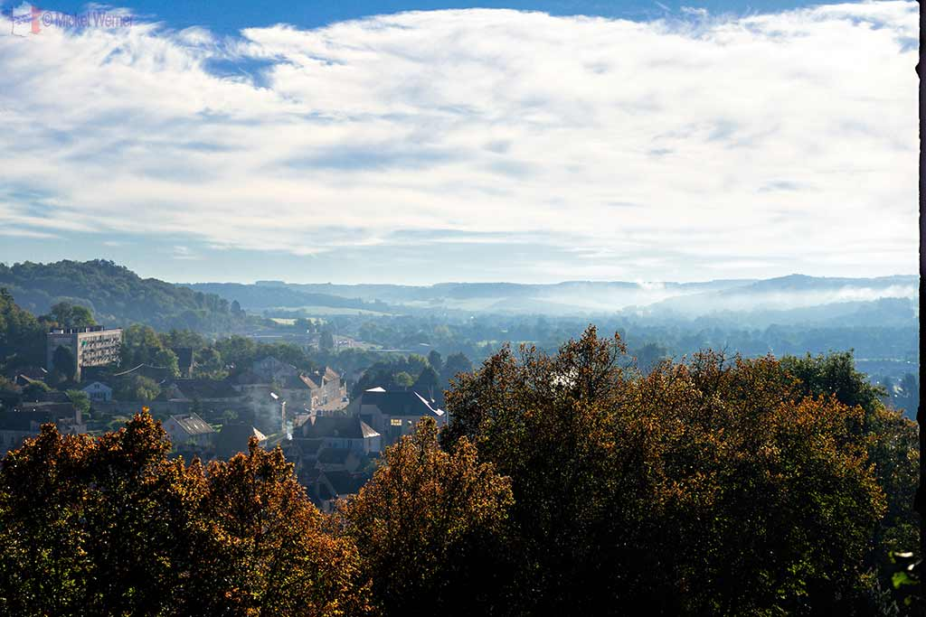 View over the valleys of Montbard from the Montbard castle in Burgundy