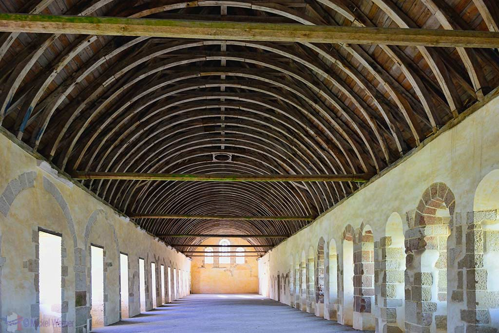 Monks dormitory of the Fontenay Abbey in Montbard, Burgundy