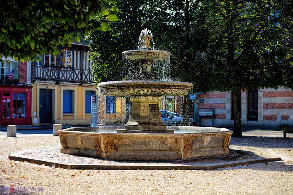 Fountain of the Courthouse of Pont L'Eveque, Normandy