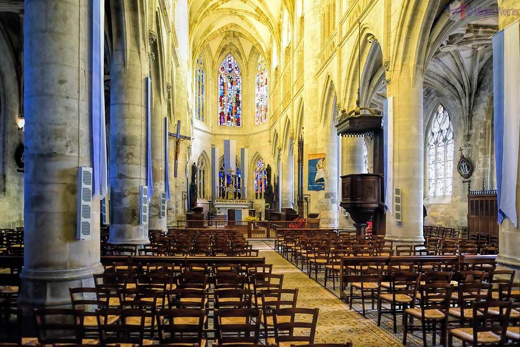 Inside the Saint-Michel church in Pont l'Eveque, Normandy