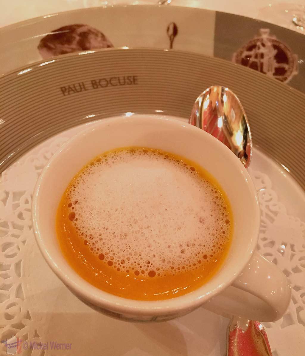 """In between"" food at Paul Bocuse restaurant"