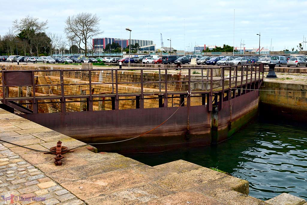 Locks at the Cherbourg harbour