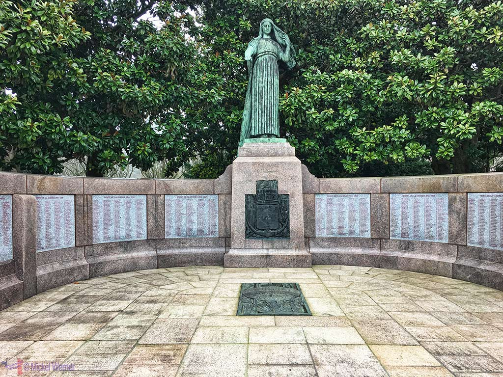 WWII monument at the Public Garden of Cherbourg