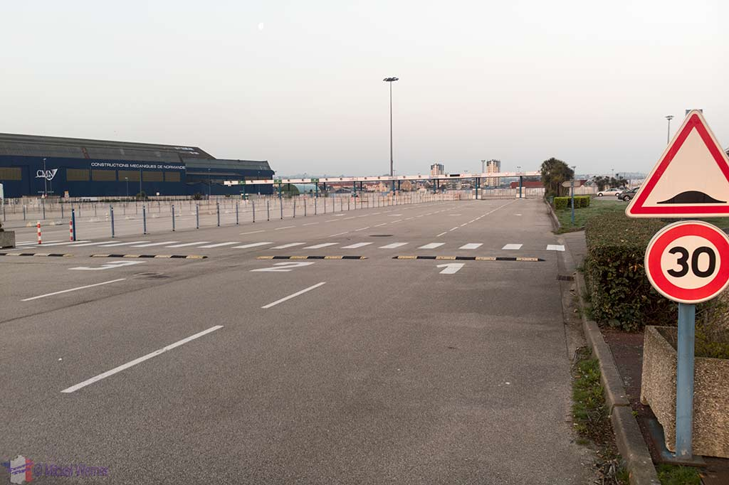 Boarding lanes at the Ferry in Cherbourg