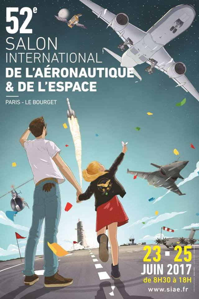 2017 Paris Air Show poster