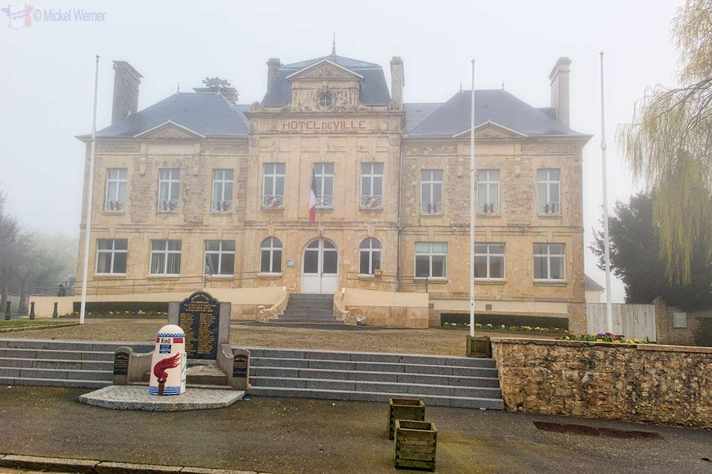 Town Hall (Mairie) of Sainte-Mere-Eglise in Normandy