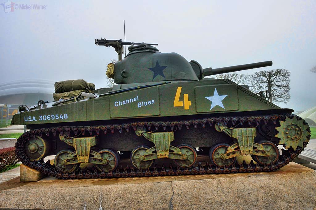 Tank at the Airborne museum of Sainte-Mere-Eglise