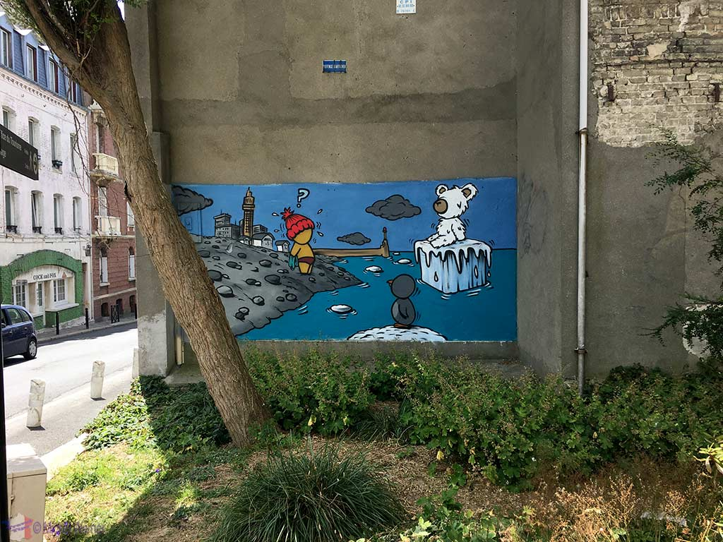 Jace's Gouzous painting found all over Le Havre