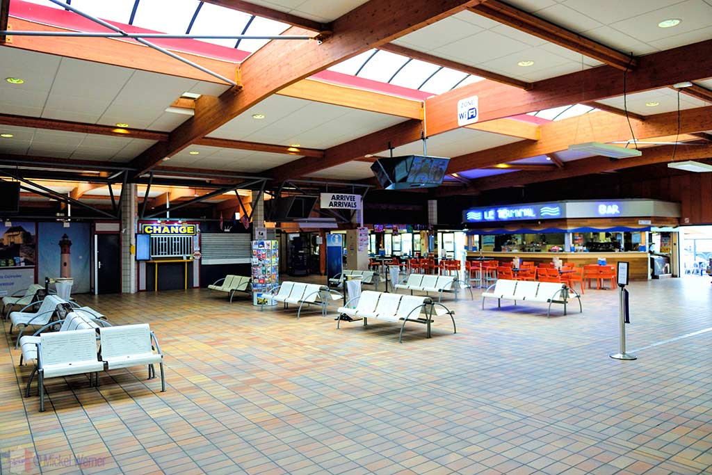Terminal ferry building at Ouistreham