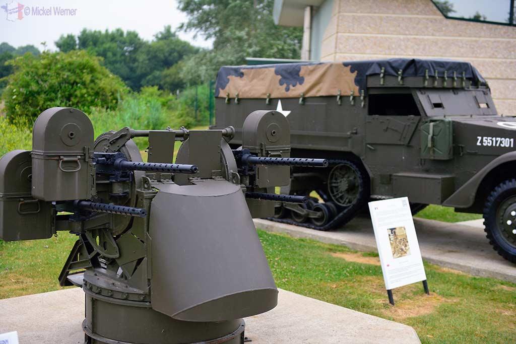 Anti Aircraft guns and half tracks at the Pegasus Memorial