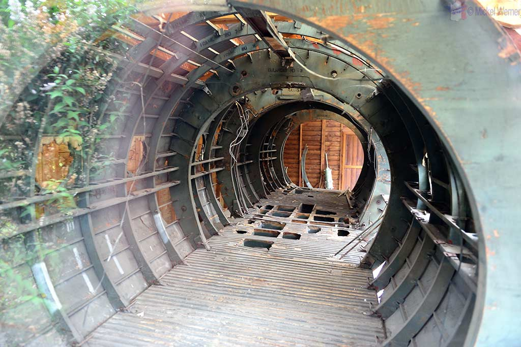 Original fuselage of a Horsa glider at the Pegasus Bridge Memorial