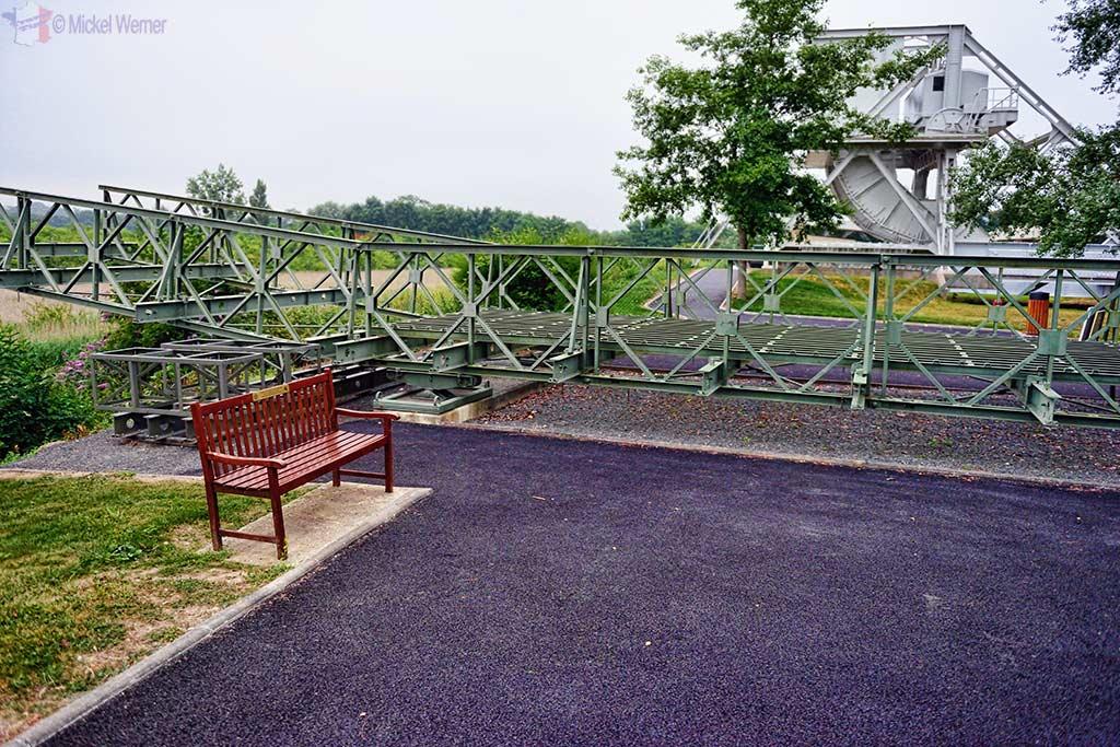 Bailey Bridge as used by the Allied troops at the Pegasus Bridge Memorial