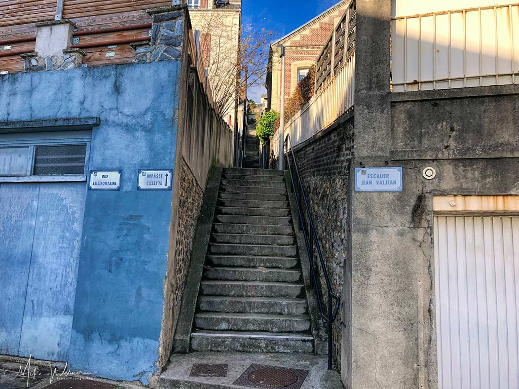 """The bottom end of the """"Escalier Jean Valjean"""" Le Havre, Normandy"""