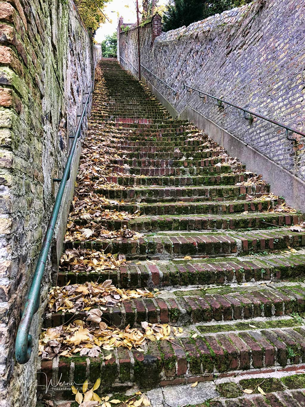 """The stairway """"Escalier-des-Noyers"""" in Le Havre, Normandy"""