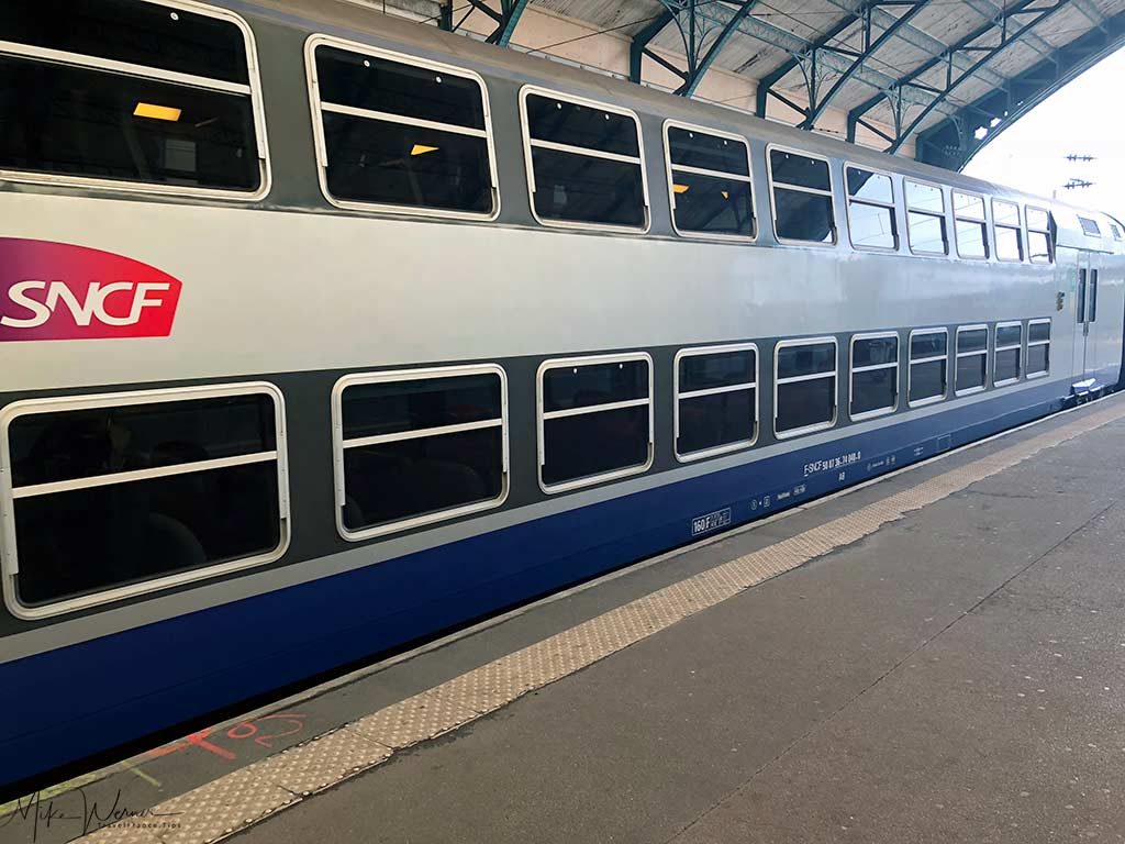 Old style double decker Intercite train