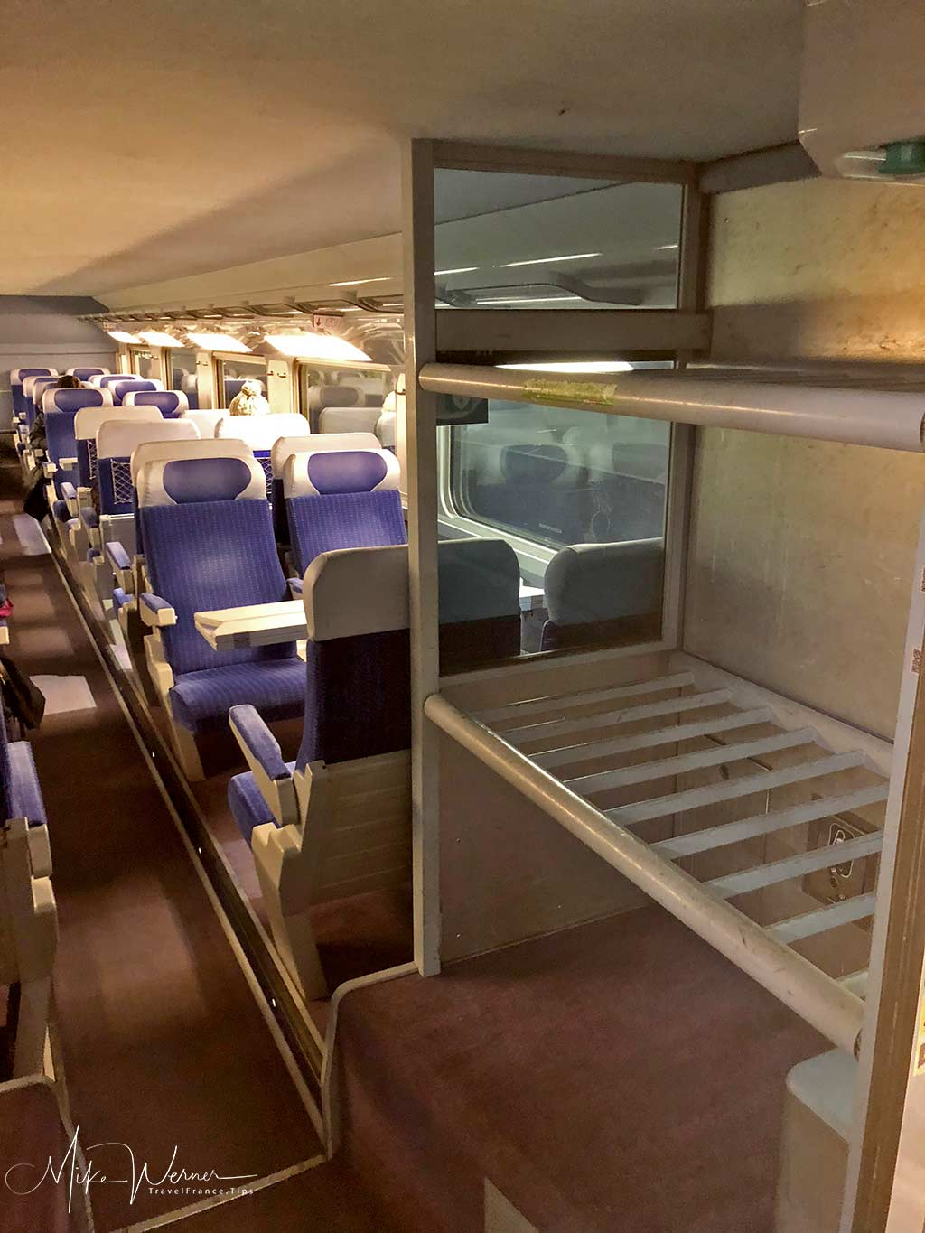2nd class of one of the TGV trains, High Speed French train from the SNCF