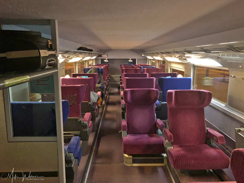 1st class of one of the TGV trains, High Speed French train from the SNCF