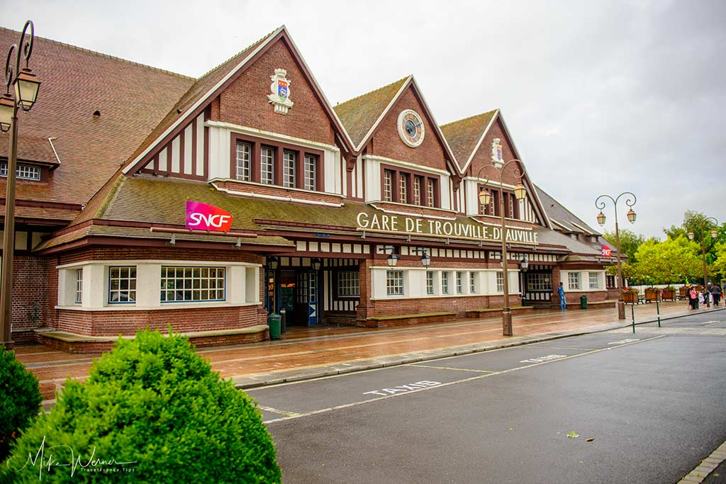 Railway station of Deauville/Trouville in Normandy