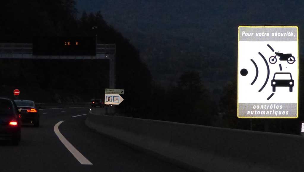 Speed radar ahead