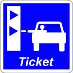 Take a ticket to enter the motorway