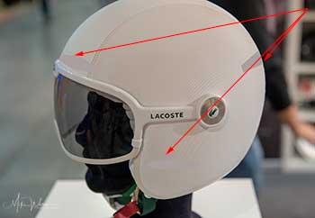 Helmet reflective stickers positions