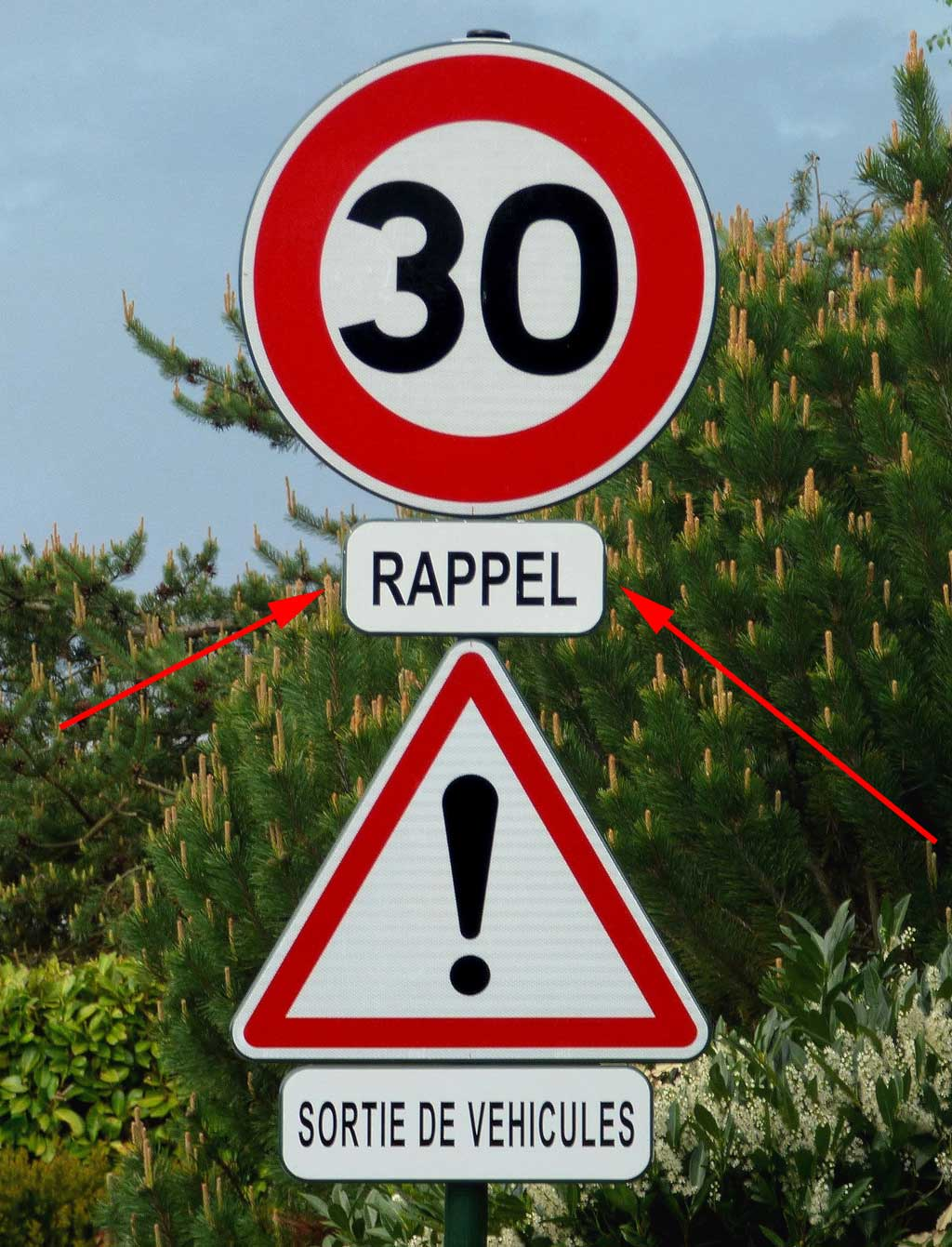 Reminder of the speed limit sign