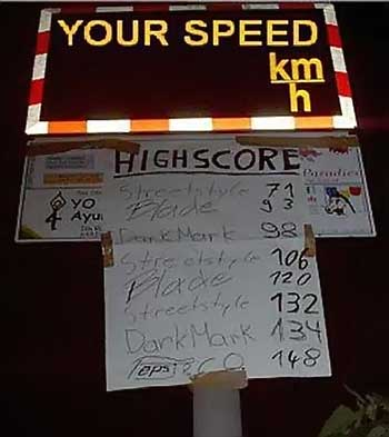 High score for speed limits