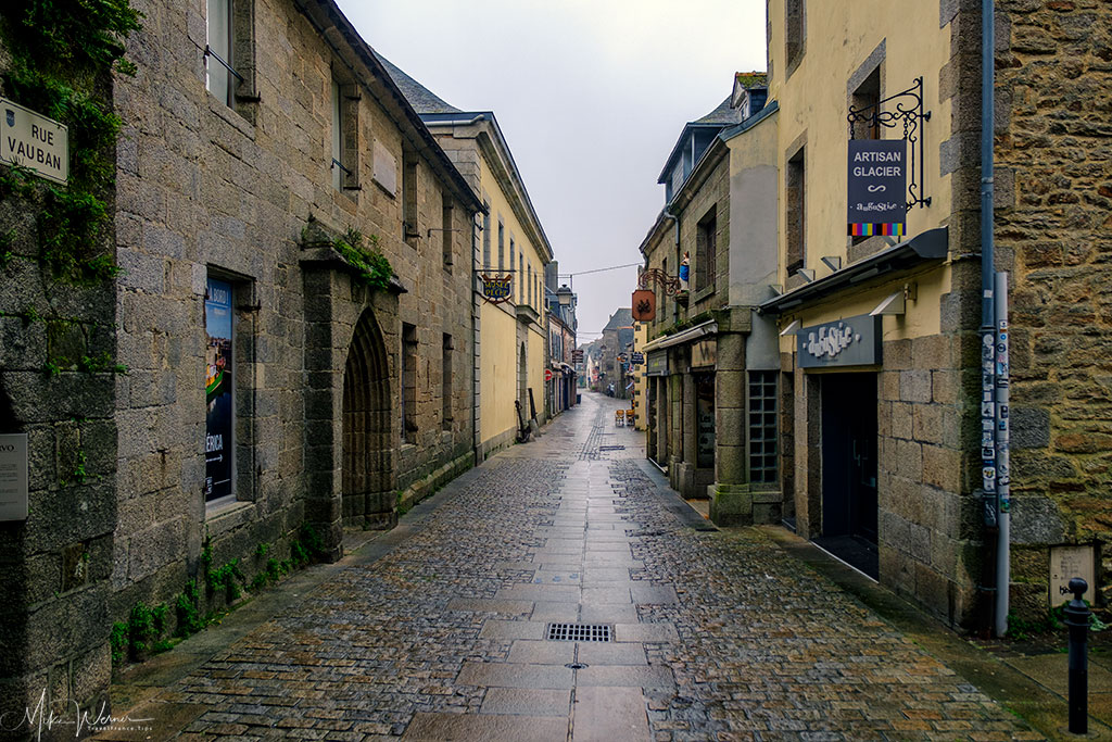 Single street of the walled city/town of   Concarneau