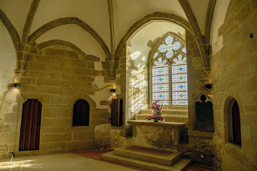 Private chapel in the Chateau/Fortress Suscinio in Brittany