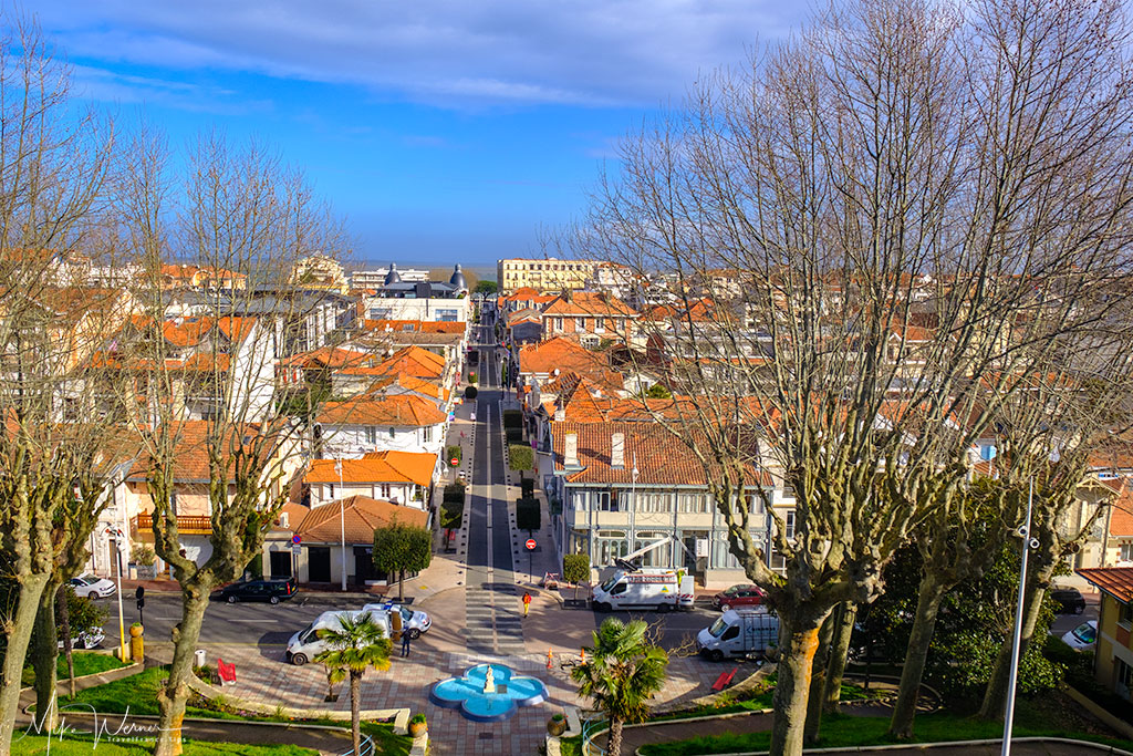 View from the elevators of Parc Mauresque of Arcachon