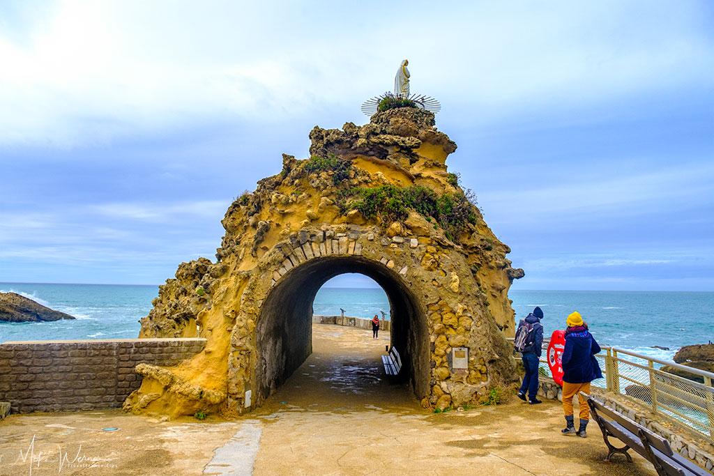Rocher du Vierge chapel in Biarritz