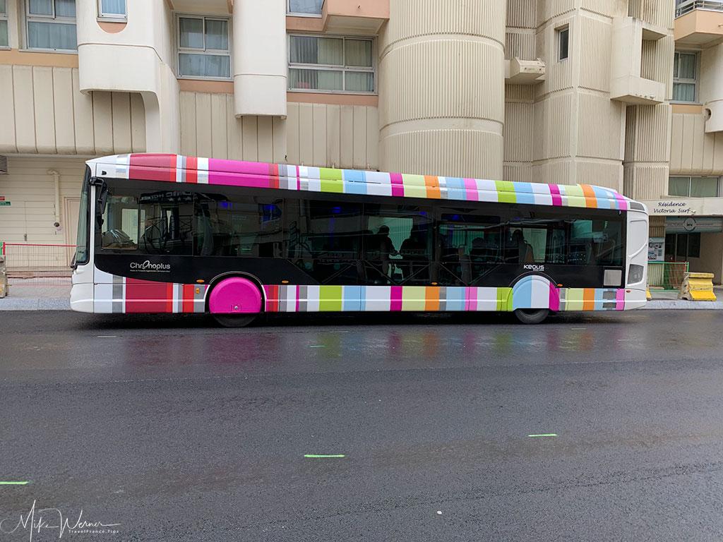 Chronoplus bus service of Biarritz