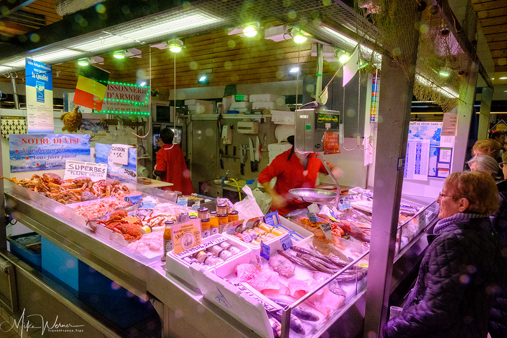 Inside the Covered market (Les Halles) of Concarneau
