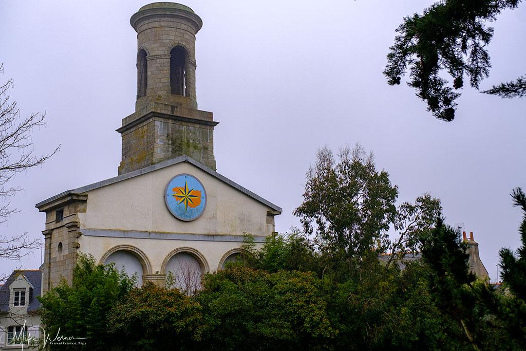 Behind the Saint-Guenole Church in Concarneau