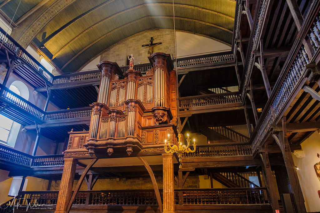The organ of the Saint-Jean-Baptiste church in Saint-Jean-de-Luz
