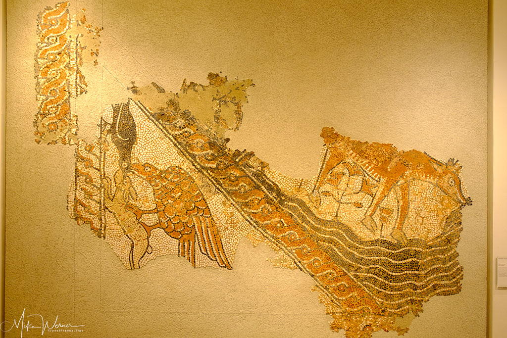 Roman mosaic in the Valence museum of archaeology and art building