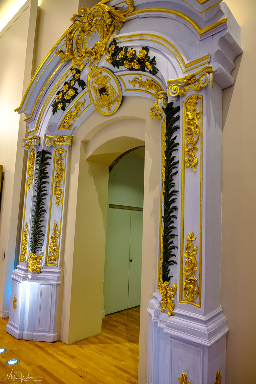 Entrance to former Bishop private chapel in the Valence museum of archaeology and art building