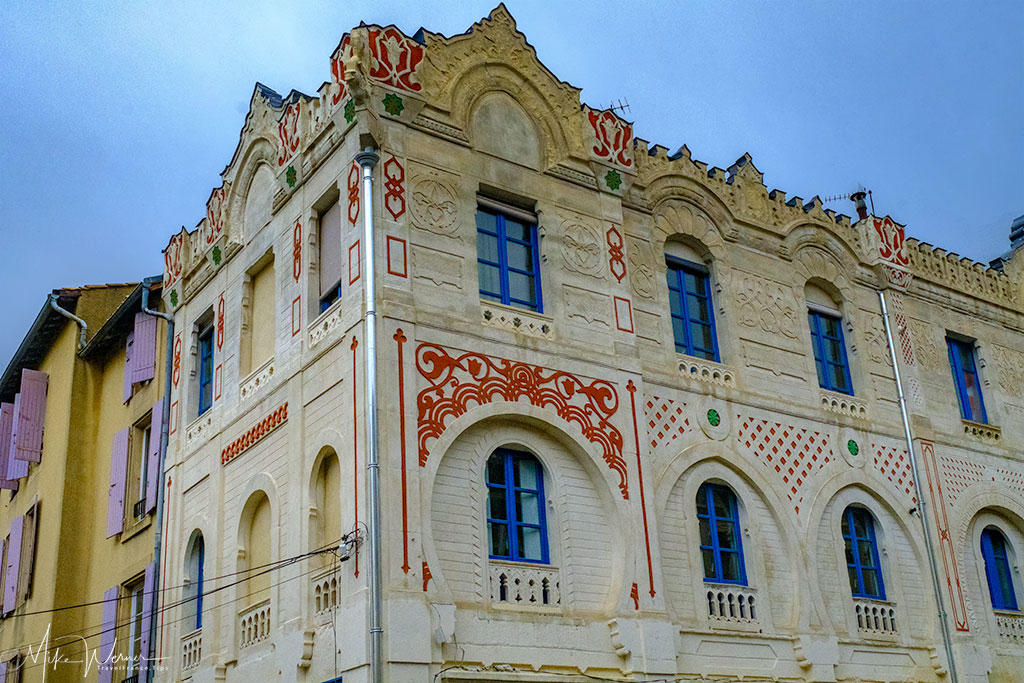 Decorated building in Valence