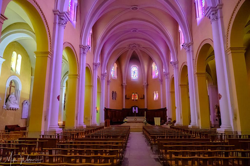 Inside the Saint-Jean-Baptiste de Valence church